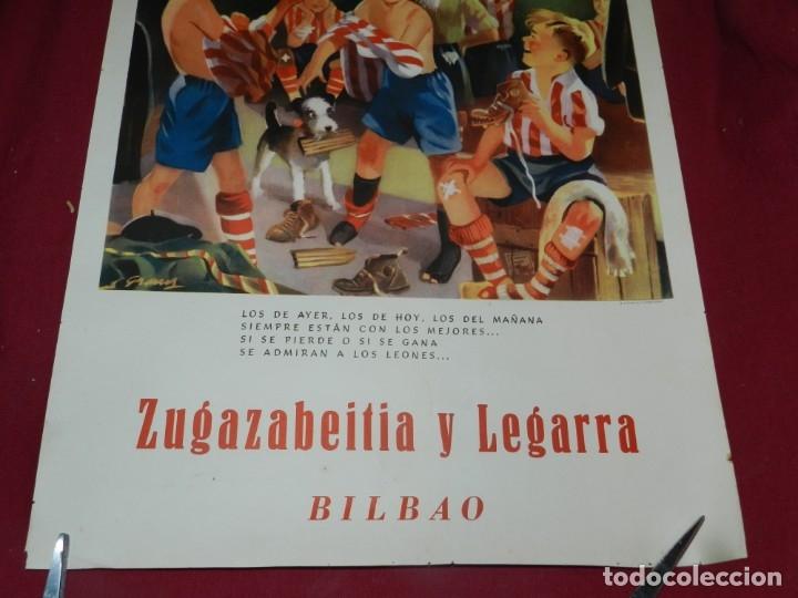 Coleccionismo deportivo: (M) Cartel Ath Bilbao original Zugazabeitia y Legarra Bilbao, Los de Ayer, los de hoy Leones - Foto 3 - 173119592