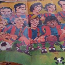 Coleccionismo deportivo: POSTER FUTBOL CLUB BARCELONA BARÇA 1973-1974 BARRABAS POR GIN . Lote 173454102