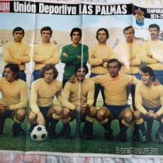 Coleccionismo deportivo: S5. 022. PÓSTER. UNIÓN DEPORTIVA LAS PALMAS. TEMPORADA 1974-75. LA ACTUALIDAD ESPAÑOLA. Lote 174162693