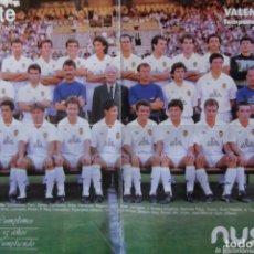 Collectionnisme sportif: @ POSTER - VALENCIA C. DE F. @TEMPORADA 1991 - 1992 @. Lote 174374729