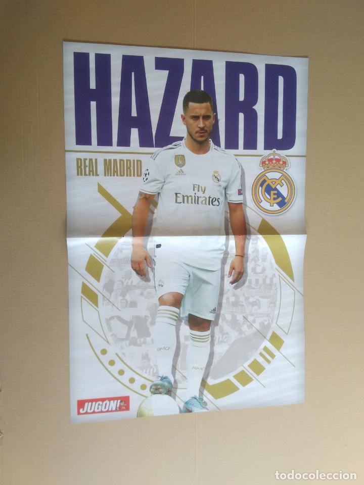 EDEN HAZARD (REAL MADRID) - PÓSTER 2 PÁGINAS REVISTA JUGÓN FICHAJE 19-20 LIGA FÚTBOL 2019-2020 (Coleccionismo Deportivo - Carteles de Fútbol)