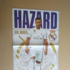 Coleccionismo deportivo: EDEN HAZARD (REAL MADRID) - PÓSTER 2 PÁGINAS REVISTA JUGÓN FICHAJE 19-20 LIGA FÚTBOL 2019-2020. Lote 175134380