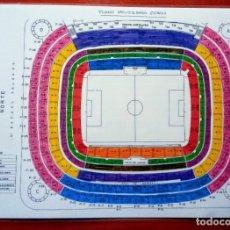 Coleccionismo deportivo: CARTEL SECTORIAL PLASTIFICADO ESTADIO SANTIAGO BERNABÉU. REAL MADRID. 42´5 X 30´5 CM.. Lote 175625124
