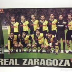 Coleccionismo deportivo: POSTER REAL ZARAGOZA - TEMPORADA 2000-01 - REVISTA DON BALON - FUTBOL . Lote 177491272