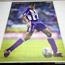 Coleccionismo deportivo: POSTER MAKAAY - REVISTA DON BALON - JUGADOR DEL DEPORTIVO DE LA CORUÑA - AÑO 2002-03. Lote 177492400