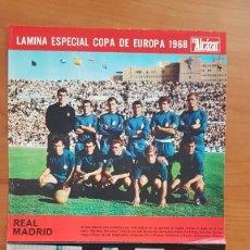 Coleccionismo deportivo: LAMINA ESPECIAL COPA DE EUROPA 1968 EL ALCAZAR REAL MADRID Y AJAX POSTER. Lote 177707145
