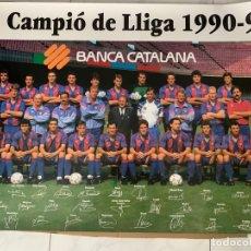 Coleccionismo deportivo: CARTEL FUTBOL F.C. BARCELONA CAMPEON DE LIGA 1990-91. Lote 177748275