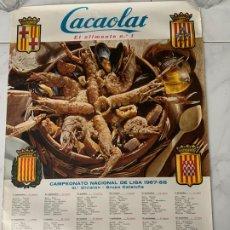 Coleccionismo deportivo: CARTEL FUTBOL F.C. BARCELONA CACAOLAT CALENDARIO LIGA 1967-1968 IIIª DIVISION CATALANA. Lote 177759985