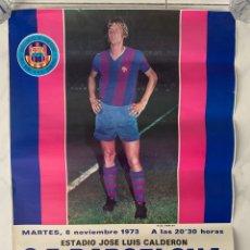 Coleccionismo deportivo: CARTEL FUTBOL F.C. BARCELONA JOHAN CRUYFF TARRAGONA VS GIMNASTICO 1973. Lote 177760469