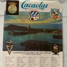 Coleccionismo deportivo: C.F. BARCELONA FUTBOL CARTEL CACAOLAT CAMPEONATO LIGA 1964-1965 CALENDARIO 2ª DIVISION GRUPO NORTE. Lote 177764692