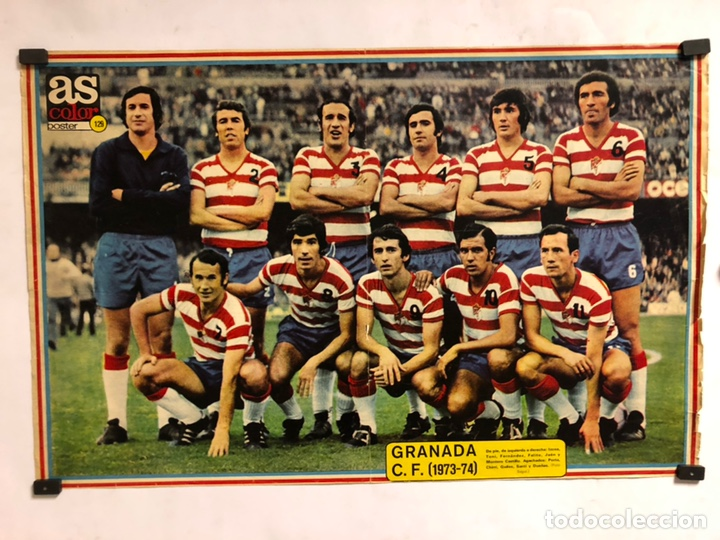 GRANADA C.F. TEMPORADA 1973-74. POSTER N° 129 DE LA REVISTA AS COLOR. 32,5 X 51 CMS. (Coleccionismo Deportivo - Carteles de Fútbol)
