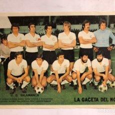 Coleccionismo deportivo: U.D. SALAMANCA. TEMPORADA 1972/73. POSTER DE LA GACETA DEL NORTE. 28,7 X 42 CMS.. Lote 178249072