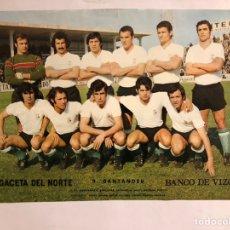 Coleccionismo deportivo: RACING SANTANDER. POSTER DE LA GACETA DEL NORTE, PRIMEROS AÑOS 70. 32,5 X 48 CMS.. Lote 178249276