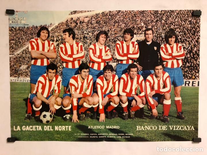 CLUB ATLÉTICO DE MADRID. POSTER DE LA GACETA DEL NORTE, PRIMEROS AÑOS 70. 33,5 X 48 CMS. (Coleccionismo Deportivo - Carteles de Fútbol)