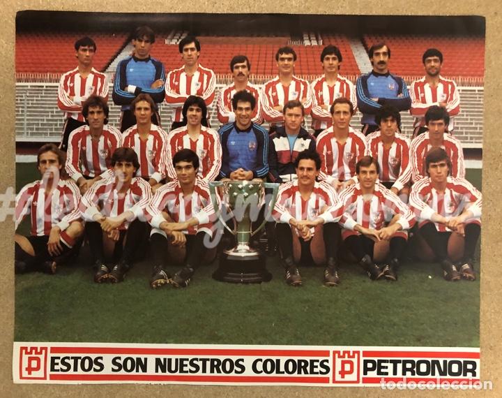 ATHLETIC CLUB DE BILBAO. POSTER CAMPEONES DE LA LIGA 1982/83. (Coleccionismo Deportivo - Carteles de Fútbol)