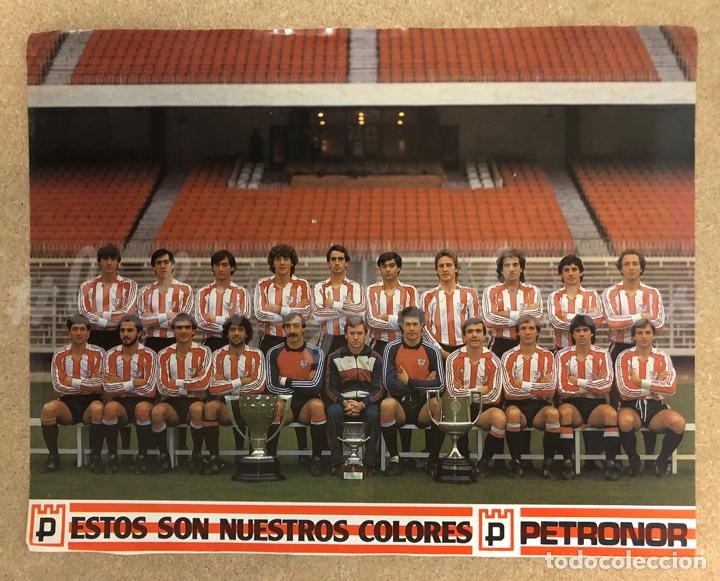 ATHLETIC CLUB DE BILBAO. POSTER CAMPEONES DEL TRIPLETE, TEMPORADA 1983/84. (Coleccionismo Deportivo - Carteles de Fútbol)