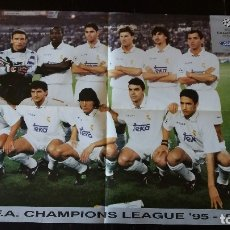 Coleccionismo deportivo: CARTEL- PÓSTER FORD * REAL MADRID ** U.E.F.A. CHAMPIONS LEAGUE 95-96 **60 X 43 CM. Lote 178570492