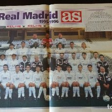 Coleccionismo deportivo: CARTEL- PÓSTER AS * REAL MADRID ** 1995-1996 **. Lote 178570983