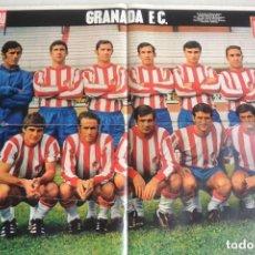 Coleccionismo deportivo: GRAN POSTER REVISTA ACTUALIDAD GRANADA CF .AÑOS 70. Lote 178622541