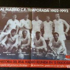 Coleccionismo deportivo: CARTEL-POSTER REAL MADRID ** 1902 1992 DIARIO MARCA ** LEYENDA VIVA . Lote 178667078