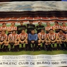 Coleccionismo deportivo: ATHLETIC CLUB DE BILBAO 82/83 PLANTILLA 1982 - 1983, AUTOGRAFOS IMPRESOS, 68X48 CMS. Lote 178727422