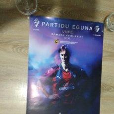 Coleccionismo deportivo: CARTEL S.D.EIBAR -OSASUNA / UMBE EIBAR / EMAKUMEAK MUJERES 2018. Lote 178985857