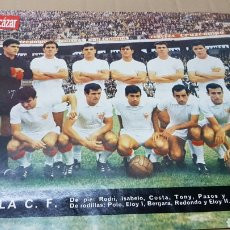 Coleccionismo deportivo: ANTIGUO PÓSTER SEVILLA CLUB DE FUTBOL 1967. Lote 179951187