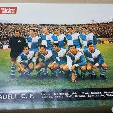 Coleccionismo deportivo: ANTIGUO CARTEL SABADELL CLUB DE FUTBOL 1967. Lote 179951738