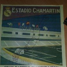 Coleccionismo deportivo: CARTEL CONMEMORATIVO AS INAGURACION ESTADIO CHAMARTIN 14-12-1947. REAL MADRID - OS BELENENSES. Lote 181613478