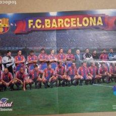 Coleccionismo deportivo: PÓSTER F.C. BARCELONA 96-97 CHICLES VIDAL. Lote 182237680
