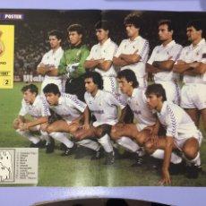 Coleccionismo deportivo: MARCA PÓSTER, REAL MADRID 86-87. TAMAÑO 42-28 CM. Lote 183597995