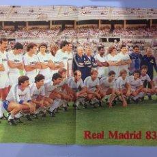 Coleccionismo deportivo: PLANTILLA REAL MADRID TEMPORADA 83-84. Lote 183601280