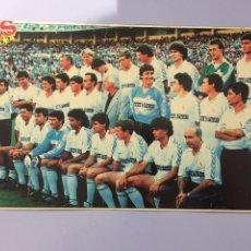 Coleccionismo deportivo: MINI PÓSTER REAL MADRID 89-90. AS COLOR PLANTILLA. Lote 183602862