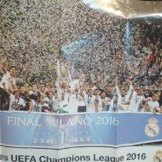 Coleccionismo deportivo: GRAN CARTEL DE LA FINAL MILANO 2016 CAMPEONES UEFA CHAMPIONS LEAGUE. Lote 183929097
