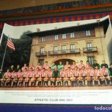 Coleccionismo deportivo: CARTEL PÓSTER ATHLETIC CLUB DE BILBAO 1988 1989 88 89 CON FIRMAS. 69X9 CMS. GRÁFICAS LOROÑO. RARO.. Lote 184031631
