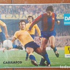 Colecionismo desportivo: CARTEL DANONE Y STRELLA DORADA DAMM, CARRASCO, 37 X 60 CM POSTER. Lote 184367147