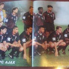 Coleccionismo deportivo: POSTER DOBLE CARA - BAYERN LEVERKUSEN / JUVENTUS / AJAX CAMPEON EUROPA 1995 - ENVIO GRATIS. Lote 184718405
