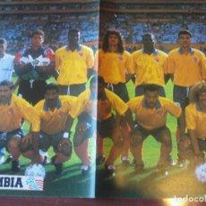Coleccionismo deportivo: POSTER A DOBLE CARA - COLOMBIA - SUECIA - MUNDIAL USA 1994 - ENVIO GRATIS. Lote 184719611