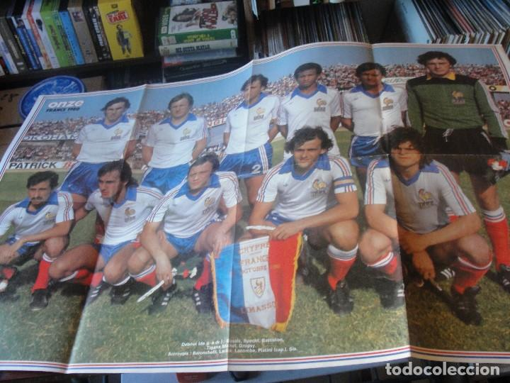 POSTER FRANCIA SELECCION FRANCESA 1980 - PLATINI TIGANA SIX LACOMBE - 84 X 52 CMS - ENVIO GRATIS (Coleccionismo Deportivo - Carteles de Fútbol)