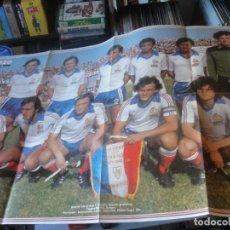 Coleccionismo deportivo: POSTER FRANCIA SELECCION FRANCESA 1980 - PLATINI TIGANA SIX LACOMBE - 84 X 52 CMS - ENVIO GRATIS. Lote 184724353