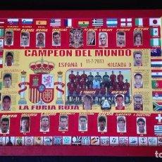Coleccionismo deportivo: CUADRO SELECCION ESPAÑOLA CAMPEONA DEL MUNDIAL 2010. Lote 184801772