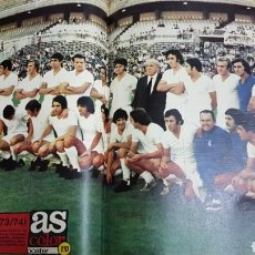 Coleccionismo deportivo: POSTER REAL MADRID 73-74. Lote 185983342