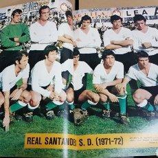 Coleccionismo deportivo: POSTER REAL SANTANDER 71-72. Lote 185984420
