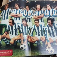 Coleccionismo deportivo: POSTER REAL SOCIEDAD 75-76. Lote 185984691