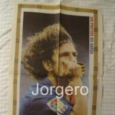Coleccionismo deportivo: CARLES PUYOL F.C. BARCELONA. CELEBRACIÓN GOL EN EL BERNABÉU. PÓSTER. Lote 186144840