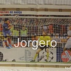 Coleccionismo deportivo: LEO MESSI F.C. BARCELONA. GOL AL MANCHESTER U. EN LA FINAL DE CHAMPIONS 2008-2009 EN ROMA. PÓSTER. Lote 186145065