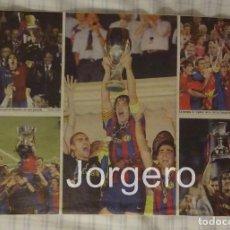 Coleccionismo deportivo: CARLES PUYOL F.C. BARCELONA. CELEBRACIÓN 5 COPAS AÑO 2009. HOJA DE REVISTA. Lote 186145105