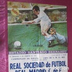 Coleccionismo deportivo: PARTIDO REAL SOCIEDAD REAL MADRID CARTEL DE FUTBOL COPA DEL REY 1978. Lote 186276775