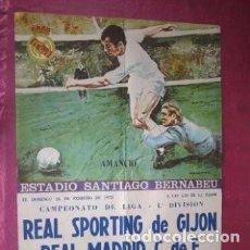 Coleccionismo deportivo: CARTEL DE FUTBOL SPORTING GIJON REAL MADRID LIGA 1978.. Lote 186297802