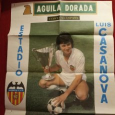 Coleccionismo deportivo: CARTEL OFICIAL RECOPA EUROPA 1980 1981 VALENCIA MONACO REAL SOCIEDAD BETIS HERCULES. Lote 188558741